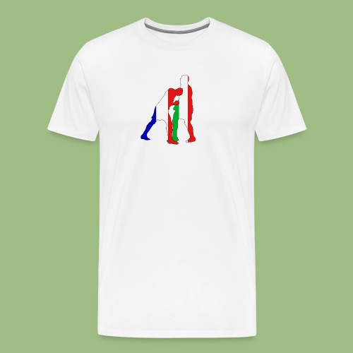 Zidane and Materazzi - Premium-T-shirt herr