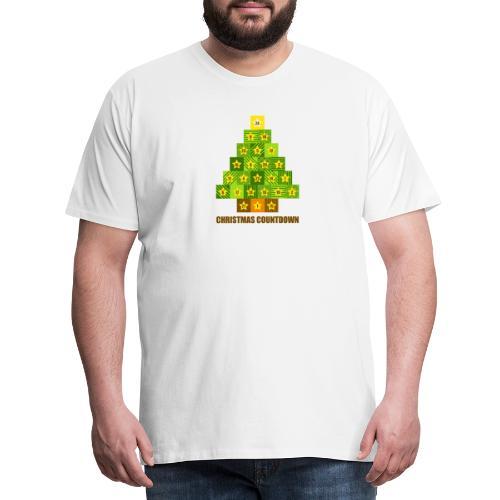 Weihnachtskalender Tannenbaum - Männer Premium T-Shirt