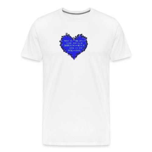 Cheeky heart - Men's Premium T-Shirt