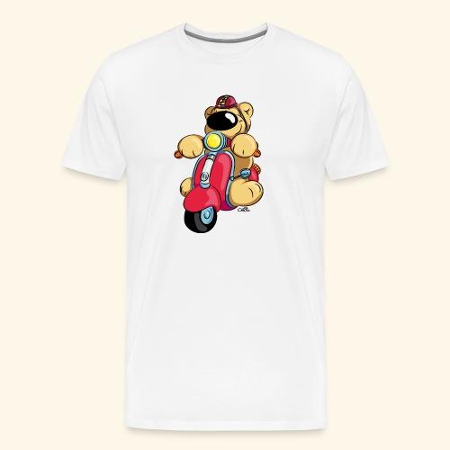 Der Bär fährt Roller - Männer Premium T-Shirt