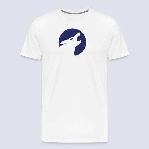 Werwolf Logo blau - Männer Premium T-Shirt