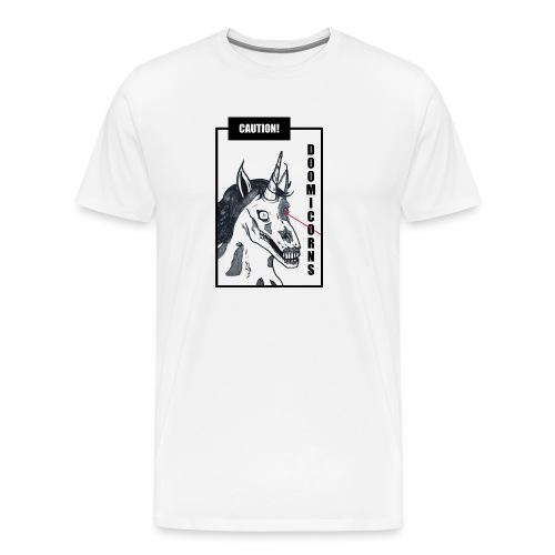 CAUTION! DOOMICORNS - Männer Premium T-Shirt