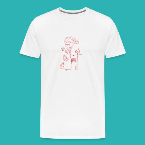 Carta_gatta_pink-png - Maglietta Premium da uomo