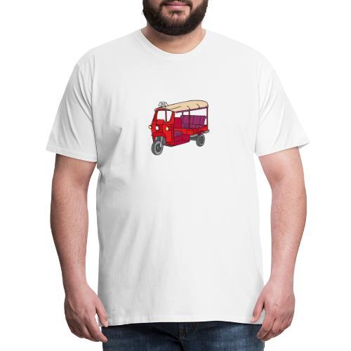 Rote Autorikscha, Tuk-tuk - Männer Premium T-Shirt