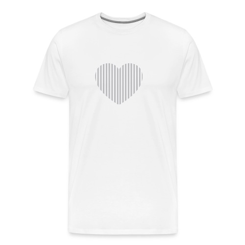 heart_striped.png - Men's Premium T-Shirt