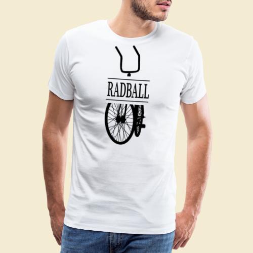 Radball   Retro Black - Männer Premium T-Shirt