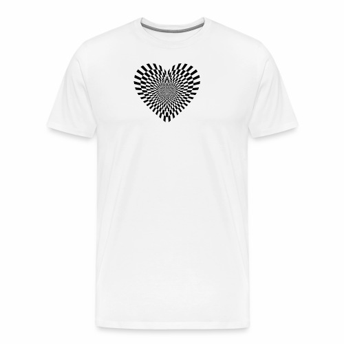 illusion heart - Men's Premium T-Shirt