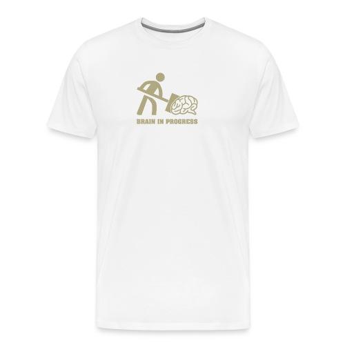 Brain in progress en or - T-shirt Premium Homme