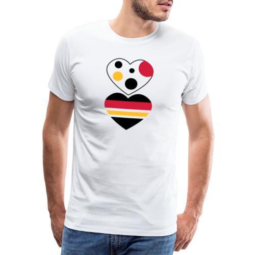 due cuori - Maglietta Premium da uomo