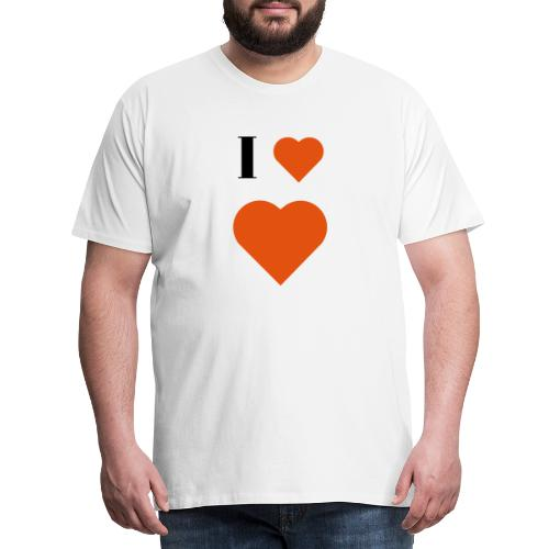 I Heart heart - Men's Premium T-Shirt
