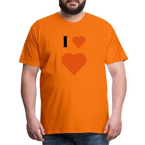 I Heart heart - Men's Premium T-Shirt