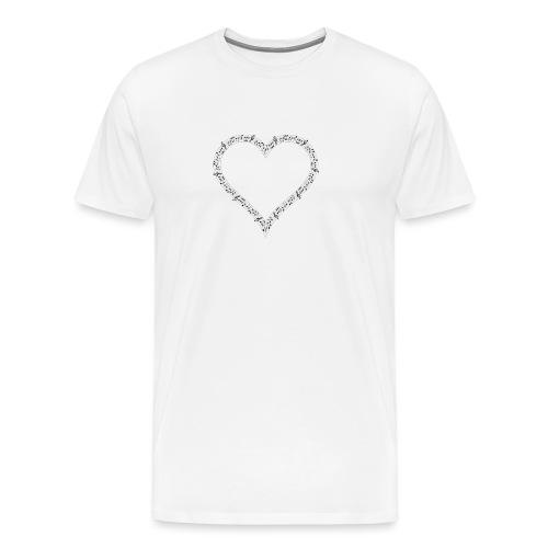 Music of Life Ladies Fitted - Men's Premium T-Shirt