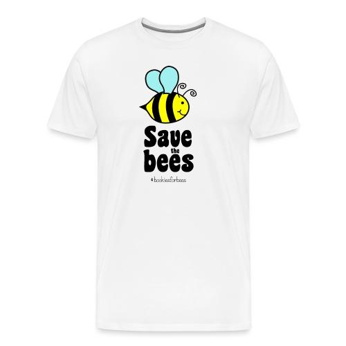 Bees9-1 save the bees   Bienen Blumen Schützen - Männer Premium T-Shirt
