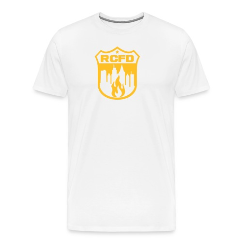 Rising Cities Fire Department Logo - Männer Premium T-Shirt