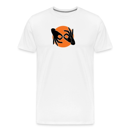 Deaf Interpreter black / orange - Männer Premium T-Shirt