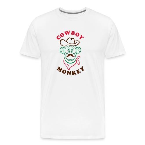 Cowboy monkey - T-shirt Premium Homme