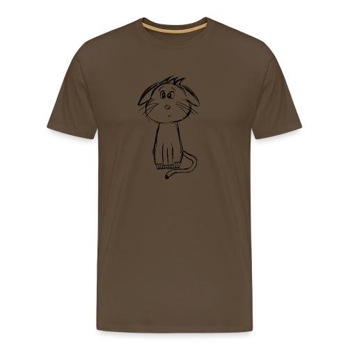 Kissa Kissanpentu musta scribblesirii - Miesten premium t-paita