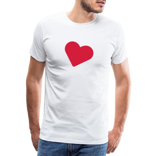 Deck of Cards heart - Men's Premium T-Shirt