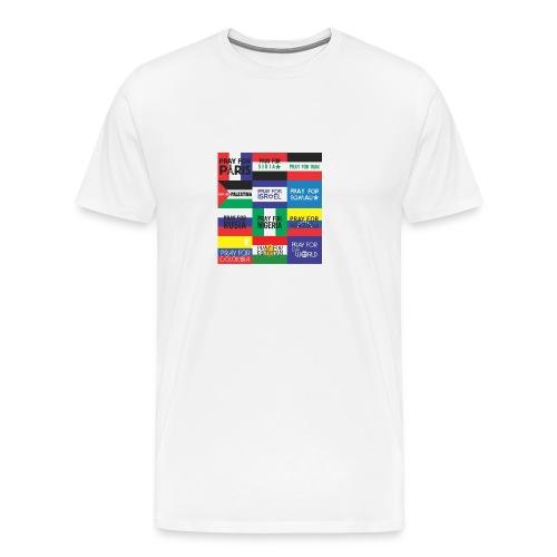 Pray for the World - Mannen Premium T-shirt