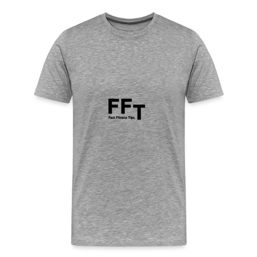 FFT simple logo letters - Men's Premium T-Shirt