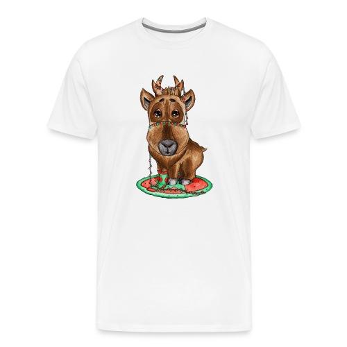 Reindeer refined scribblesirii - Herre premium T-shirt