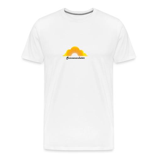 Sonnenanbeter schwarz - Männer Premium T-Shirt