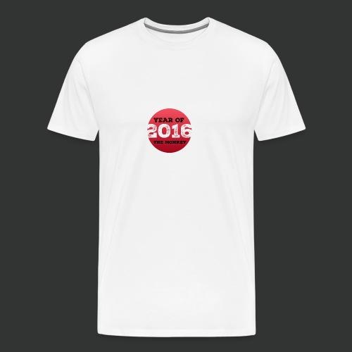 2016 year of the monkey - Men's Premium T-Shirt