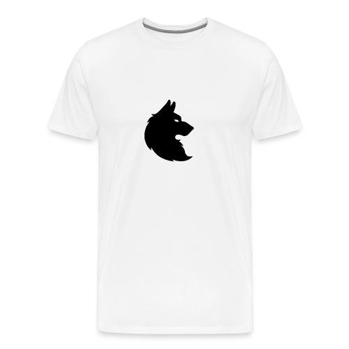 wolf_trace_by_geulach-d7ka4tu_-1--png - Mannen Premium T-shirt