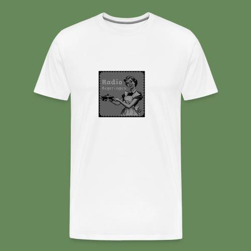 Radio Regeringen Grå Logga - Premium-T-shirt herr