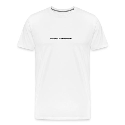 www.resolutionparty.com - Men's Premium T-Shirt