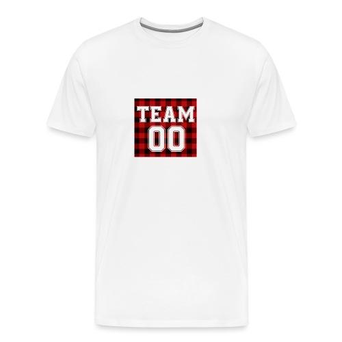 TEAM 00 T-shirt White - Mannen Premium T-shirt