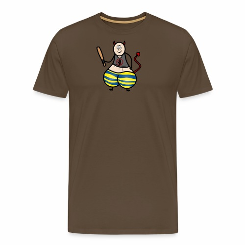 Devil No Touchies Charlie - Men's Premium T-Shirt