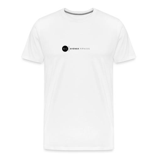 Svart logo vertikal dam - Premium-T-shirt herr
