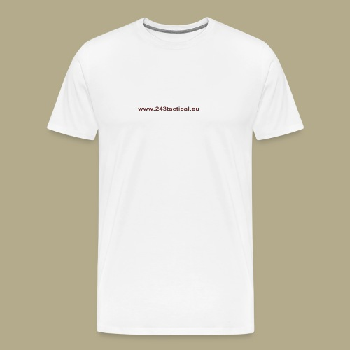 .243 Tactical Website - Mannen Premium T-shirt