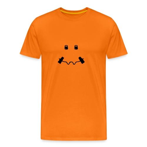 Happy dumb-bell - Mannen Premium T-shirt