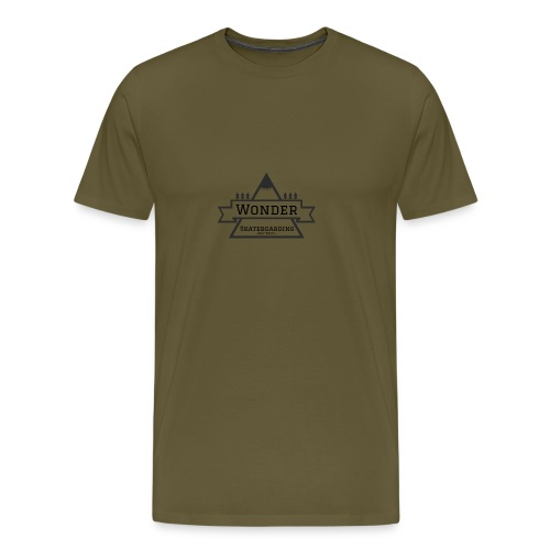 Wonder T-shirt: mountain logo - Herre premium T-shirt