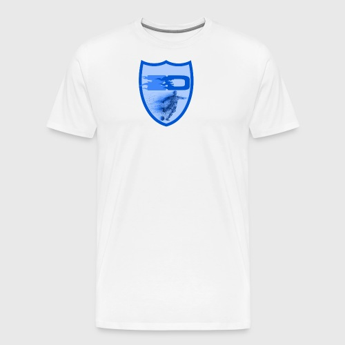J R Footballers Shield Logo - Men's Premium T-Shirt