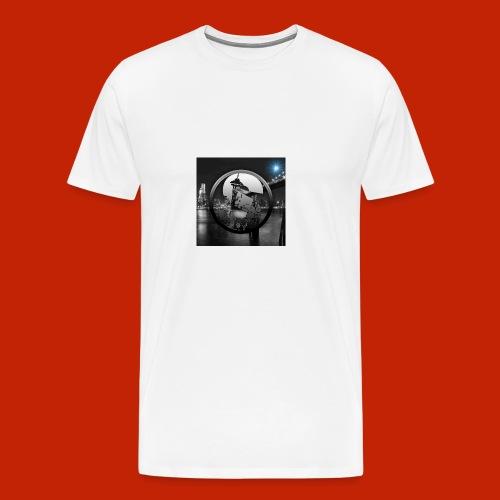 logodeksel - Premium T-skjorte for menn
