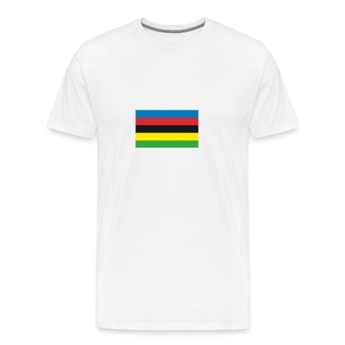 Cycling_World_Champion_Rainbow_Stripes-png - Mannen Premium T-shirt