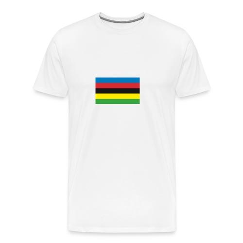 Cycling_World_Champion_Rainbow_Stripes-png - Mannen Premium T-shirt