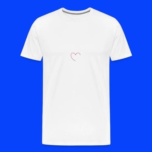 t-shirt bianca con cuore - Maglietta Premium da uomo