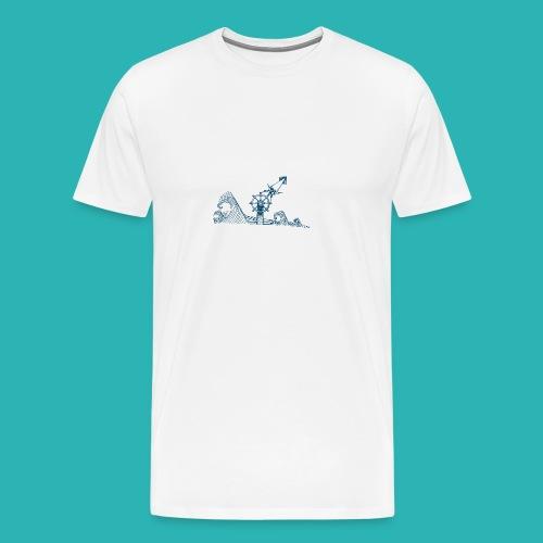 Carta_timone_blu-png - Maglietta Premium da uomo
