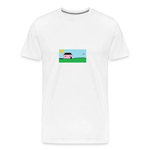 tskjorte med hus - Premium T-skjorte for menn