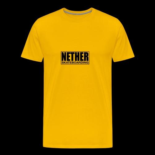 Nether Skateboarding T-shirt Black - Maglietta Premium da uomo