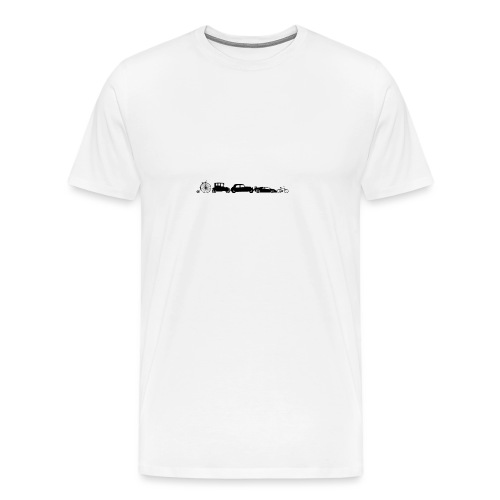 evolution of vechicles - Mannen Premium T-shirt