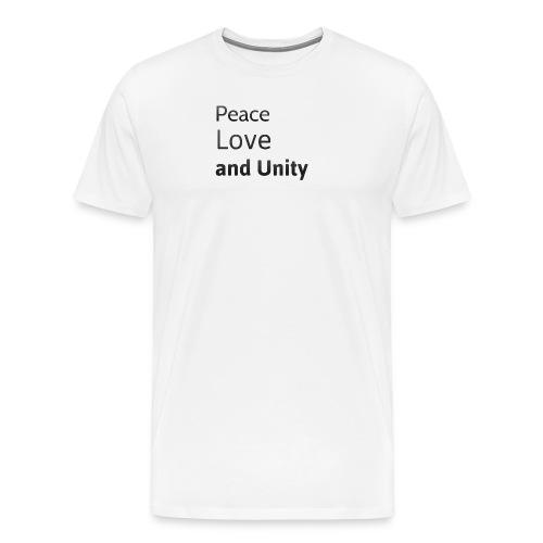 peace love and unity - Men's Premium T-Shirt