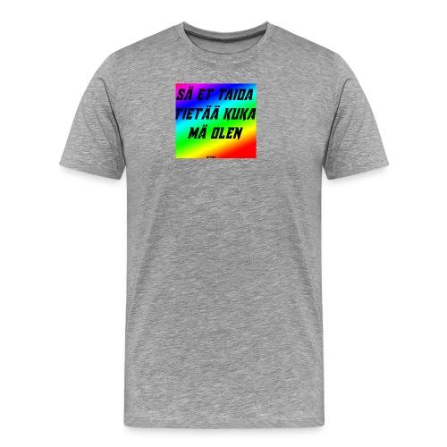 kuka olen - Miesten premium t-paita