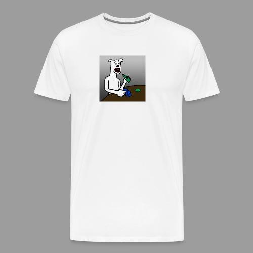 PoopyPoops in het cafe - Mannen Premium T-shirt