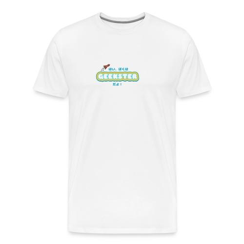 Hai, boku wa Geekster da yo! - Mannen Premium T-shirt