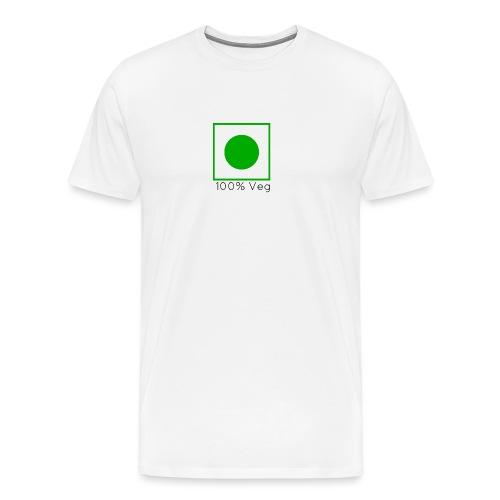 100veg-png - Premium-T-shirt herr